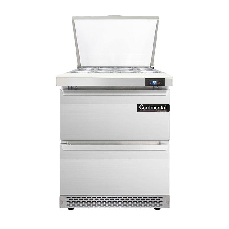 Continental Refrigerator DL27-12M-FB-D refrigerated counter, mega top sandwich / salad unit