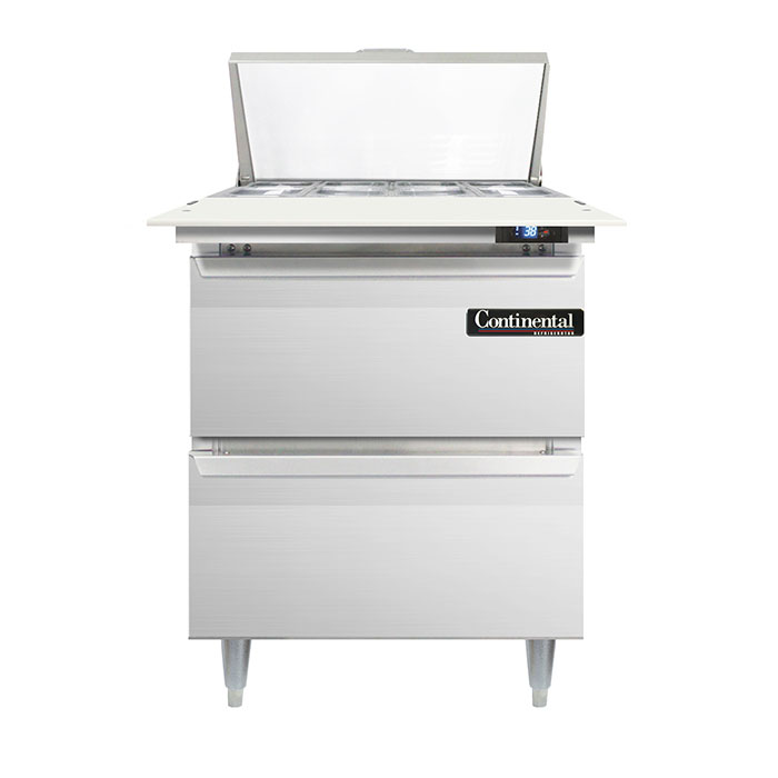 Continental Refrigerator DL27-8C-D refrigerated counter, sandwich / salad unit
