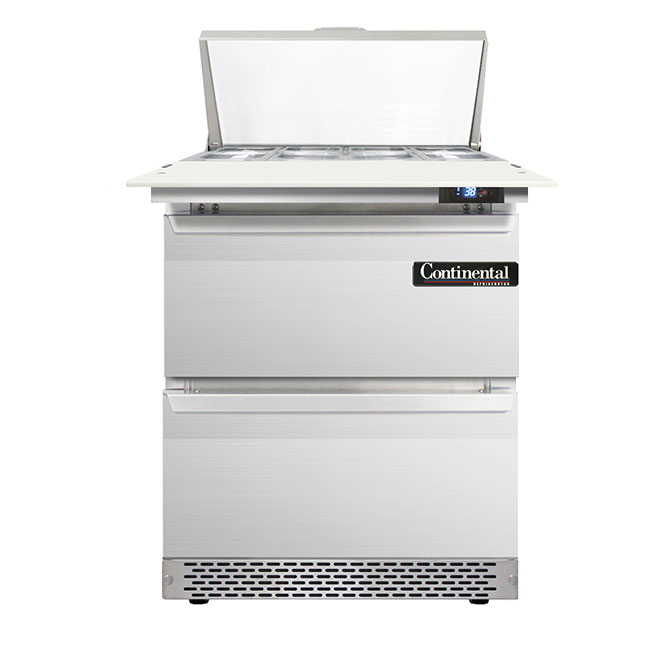 Continental Refrigerator D27N8C-FB-D refrigerated counter, sandwich / salad unit