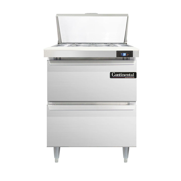 Continental Refrigerator DL27-8-D refrigerated counter, sandwich / salad unit
