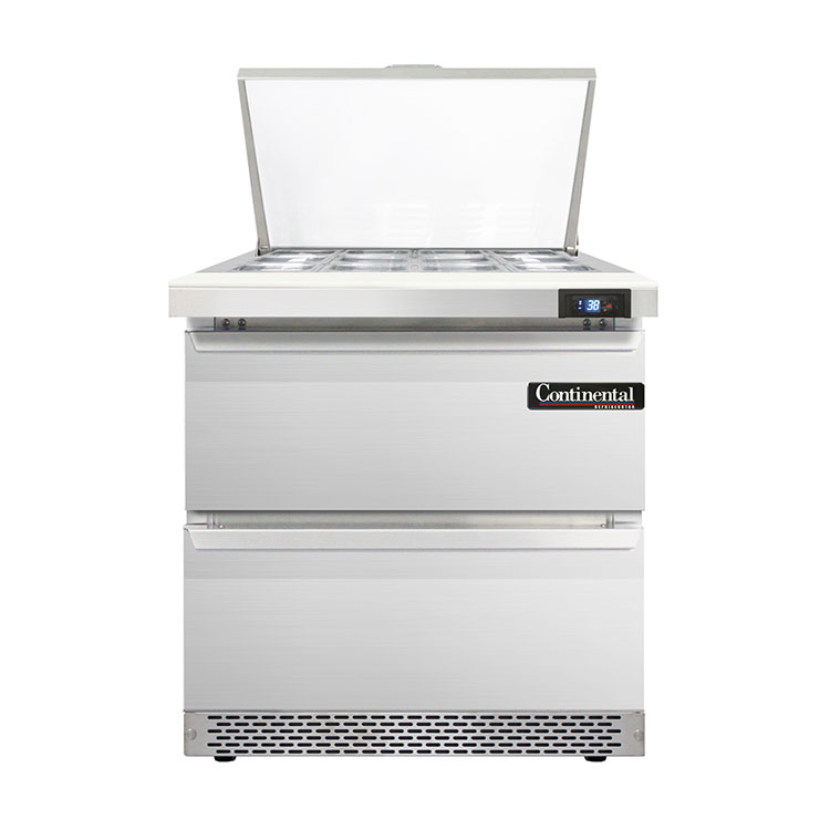 Continental Refrigerator D32N12M-FB-D refrigerated counter, mega top sandwich / salad unit
