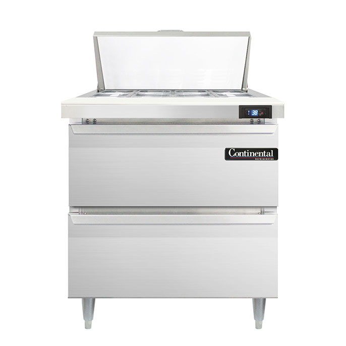 Continental Refrigerator DL32-8-D refrigerated counter, sandwich / salad unit