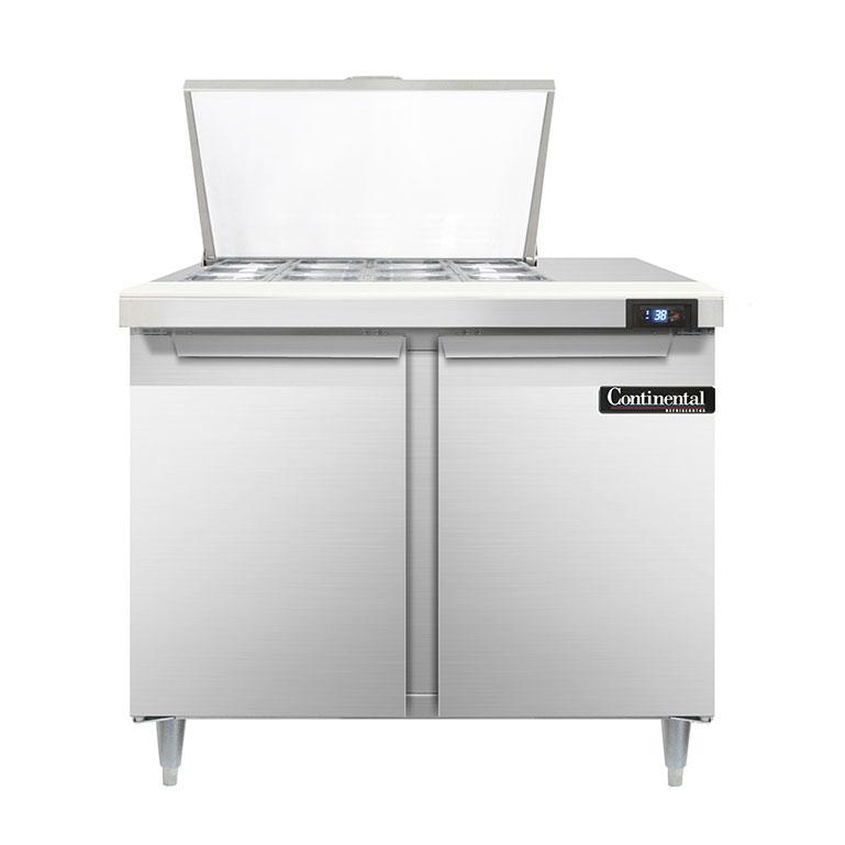 Continental Refrigerator D36N12M refrigerated counter, mega top sandwich / salad unit
