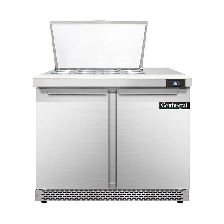 Continental Refrigerator D36N12M-FB refrigerated counter, mega top sandwich / salad unit