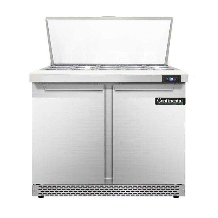 Continental Refrigerator D36N15M-FB refrigerated counter, mega top sandwich / salad unit