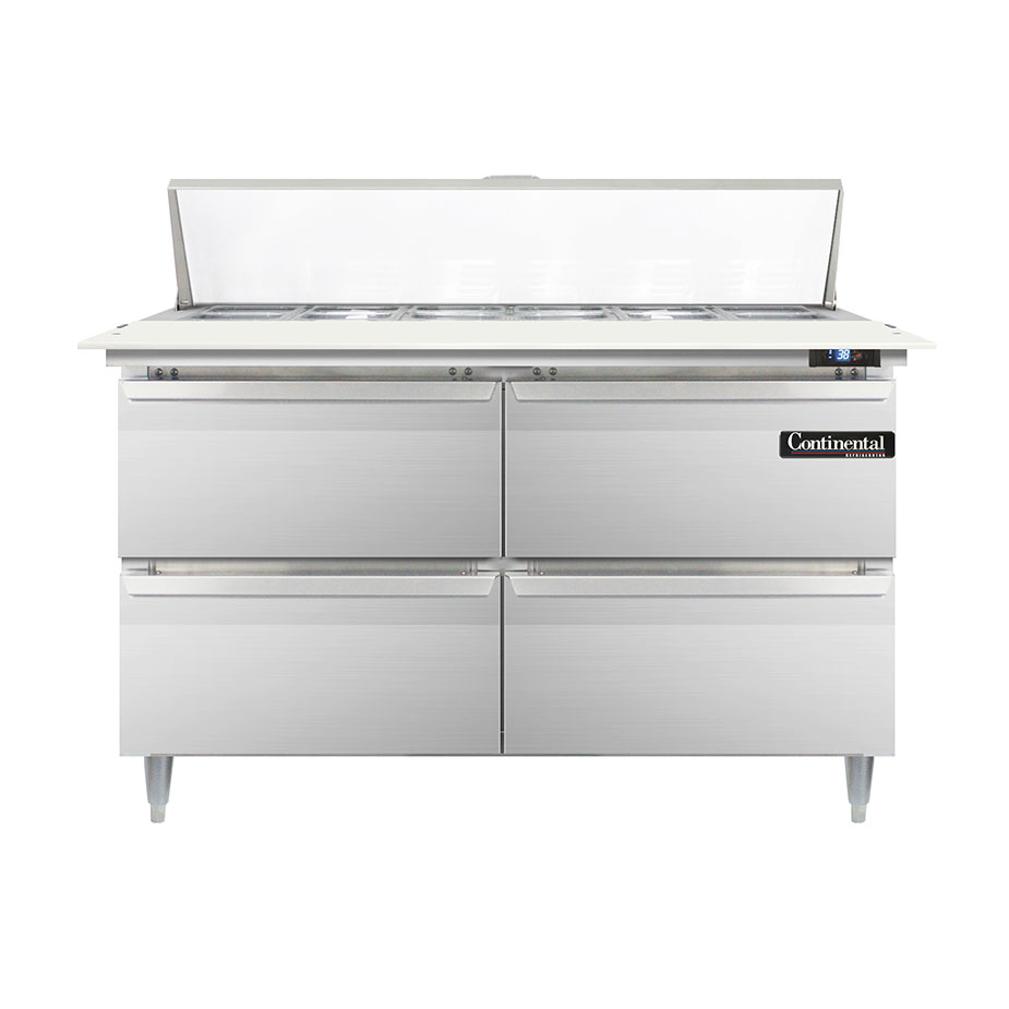 Continental Refrigerator DL48-12C-D refrigerated counter, sandwich / salad unit