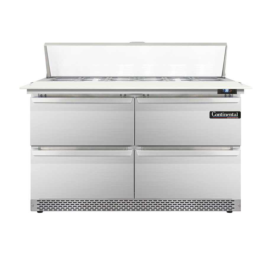Continental Refrigerator DL48-12C-FB-D refrigerated counter, sandwich / salad unit