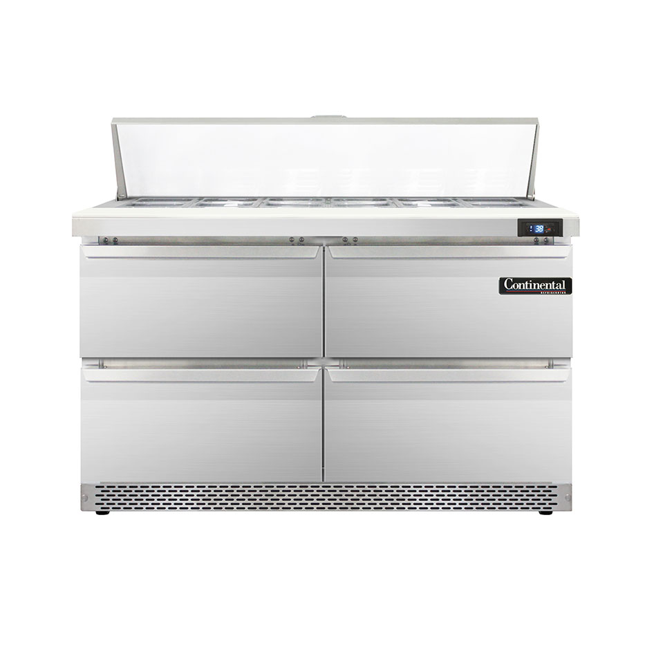 Continental Refrigerator DL48-12-FB-D refrigerated counter, sandwich / salad unit