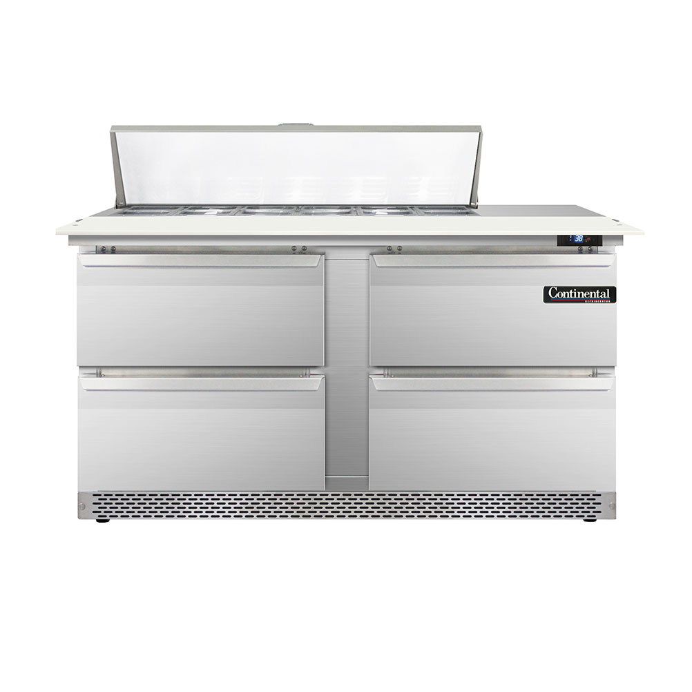 Continental Refrigerator DL60-12C-FB-D refrigerated counter, sandwich / salad unit