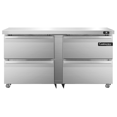 Continental Refrigerator DL60-SS-U-D refrigerator, undercounter, reach-in