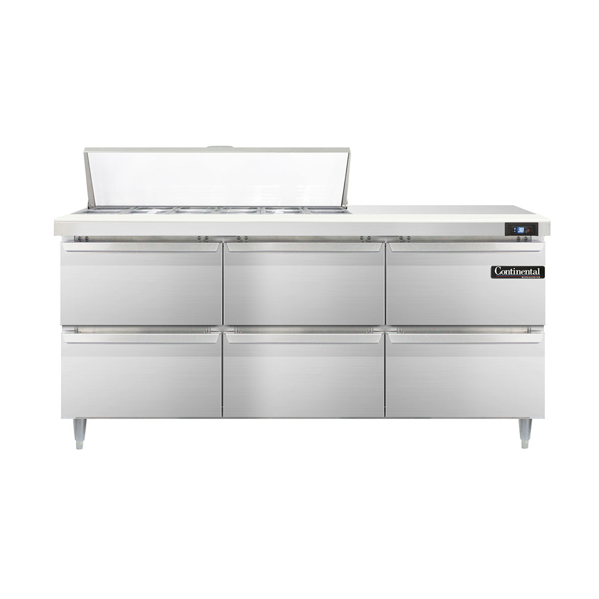 Continental Refrigerator DL72-12-D refrigerated counter, sandwich / salad unit