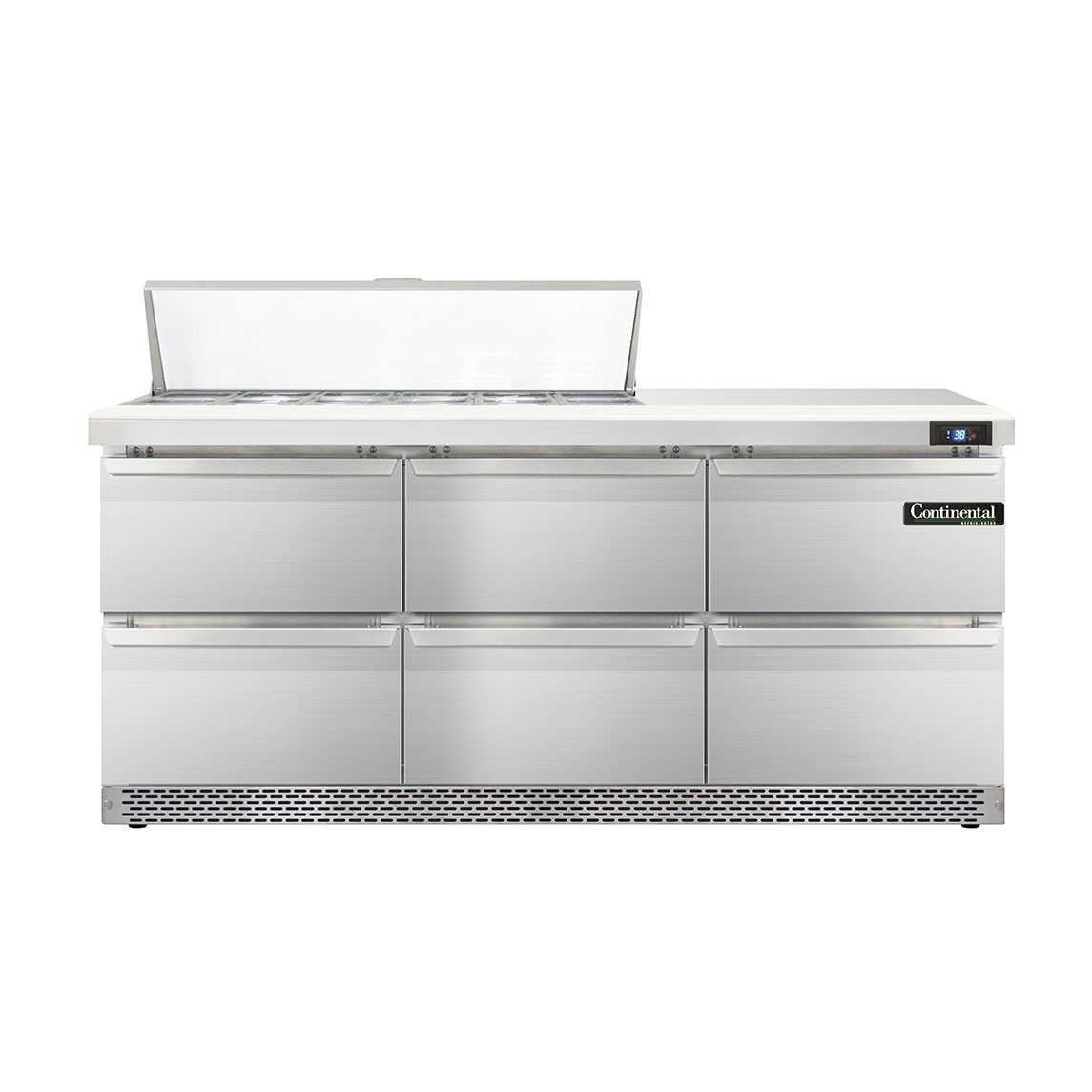 Continental Refrigerator DL72-12-FB-D refrigerated counter, sandwich / salad unit