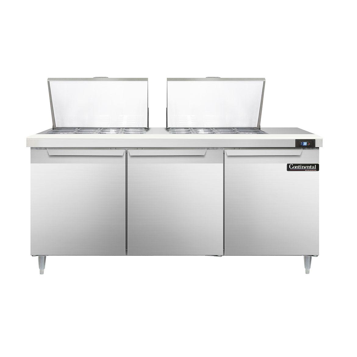 Continental Refrigerator DL72-24M refrigerated counter, mega top sandwich / salad unit