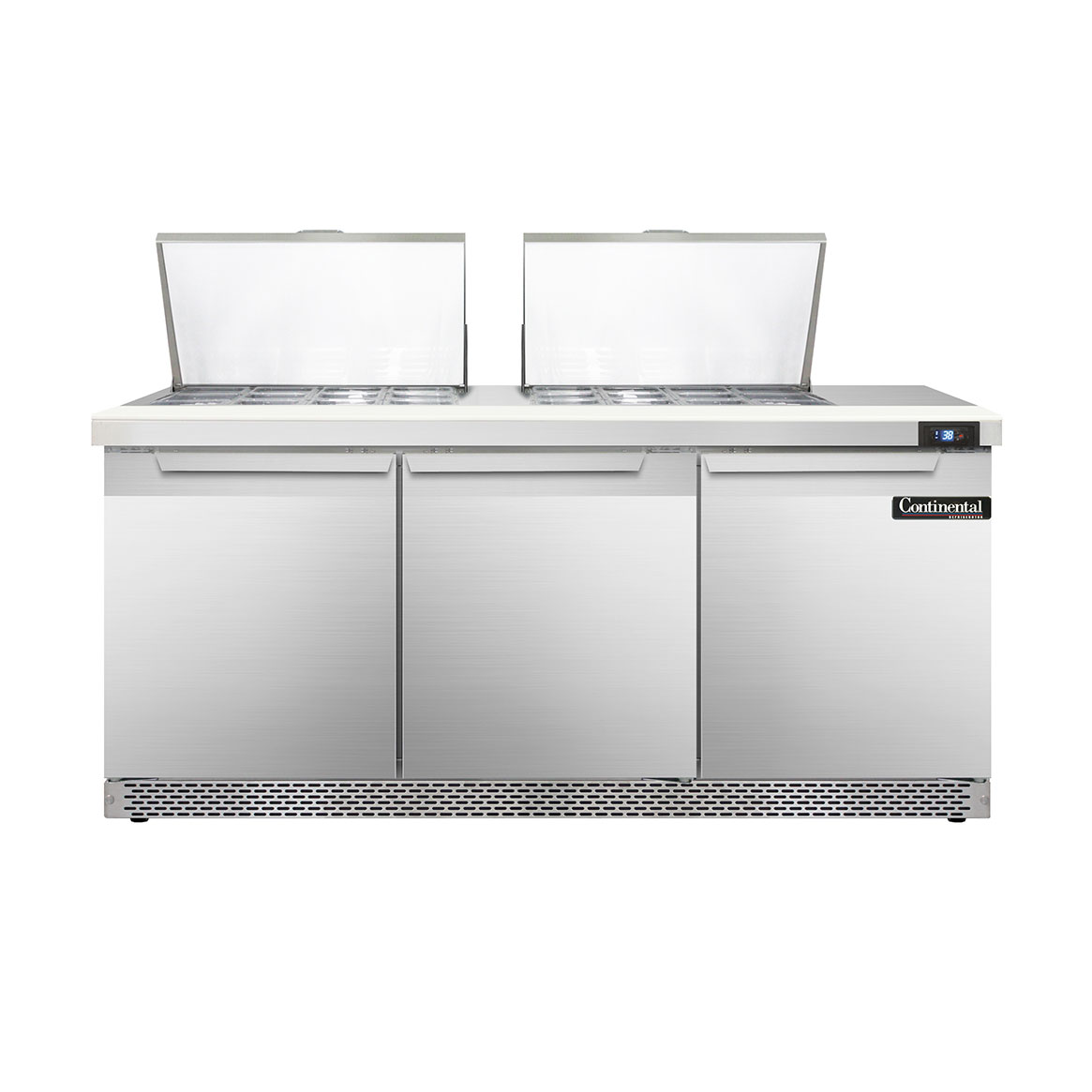 Continental Refrigerator DL72-24M-FB refrigerated counter, mega top sandwich / salad unit