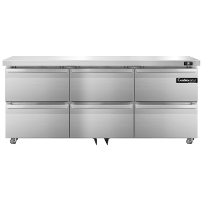 Continental Refrigerator DL72-SS-U-D refrigerator, undercounter, reach-in