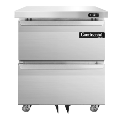 Continental Refrigerator DF27N-U-D freezer, undercounter, reach-in