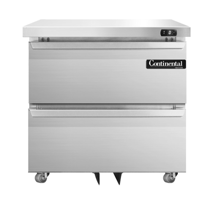 Continental Refrigerator DF32N-U-D freezer, undercounter, reach-in