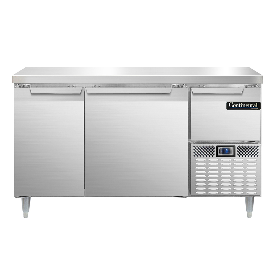 Continental Refrigerator DLFA60-SS freezer counter, work top