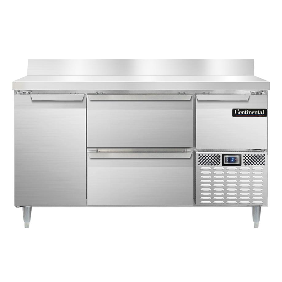 Continental Refrigerator DFA60NSSBS-D freezer counter, work top
