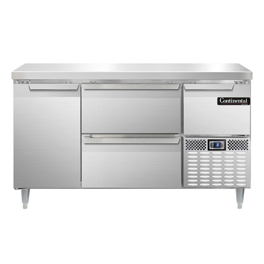 Continental Refrigerator DFA6ONSS-D freezer counter, work top