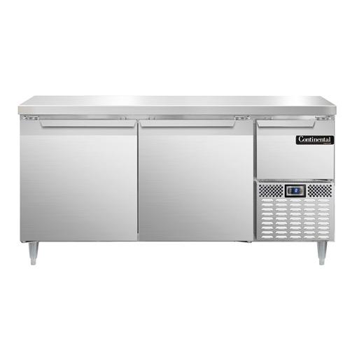 Continental Refrigerator DFA68NSS freezer counter, work top