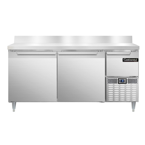 Continental Refrigerator DLFA68-SS-BS freezer counter, work top
