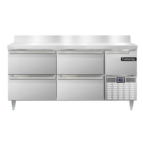 Continental Refrigerator DFA68NSSBSD freezer counter, work top