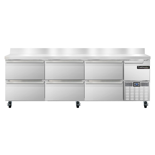 Continental Refrigerator DLRA93-SS-BS-D refrigerated counter, work top