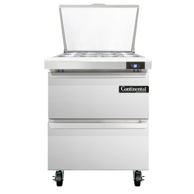 Continental Refrigerator SW27N12M-D refrigerated counter, mega top sandwich / salad unit