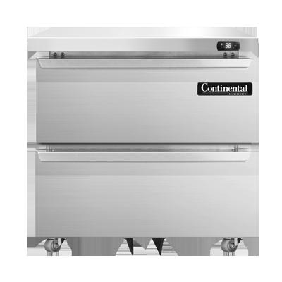 Continental Refrigerator SW32-U-D refrigerator, undercounter, reach-in