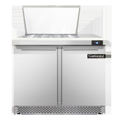 Continental Refrigerator SW36N12M-FB refrigerated counter, mega top sandwich / salad unit