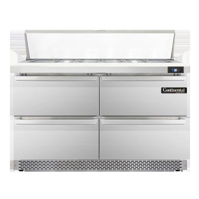 Continental Refrigerator SW48N12C-FB-D refrigerated counter, sandwich / salad unit