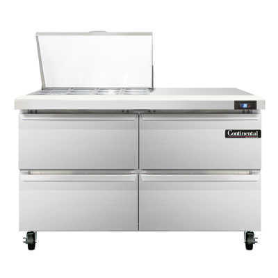 Continental Refrigerator SW48-12M-D refrigerated counter, mega top sandwich / salad unit