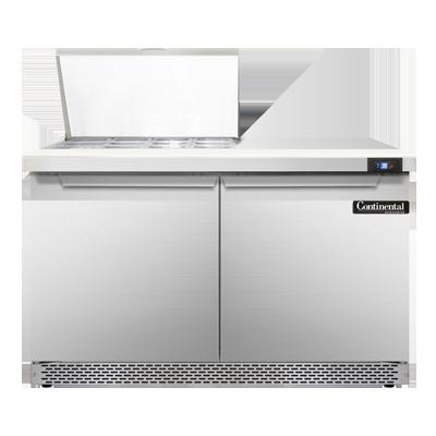 Continental Refrigerator SW48-12M-FB refrigerated counter, mega top sandwich / salad unit