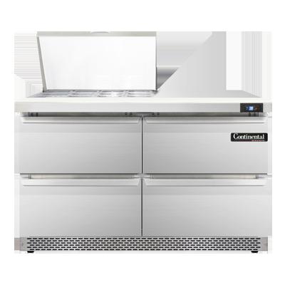 Continental Refrigerator SW48-12M-FB-D refrigerated counter, mega top sandwich / salad unit