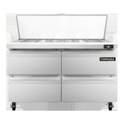Continental Refrigerator SW48-18M-D refrigerated counter, mega top sandwich / salad unit