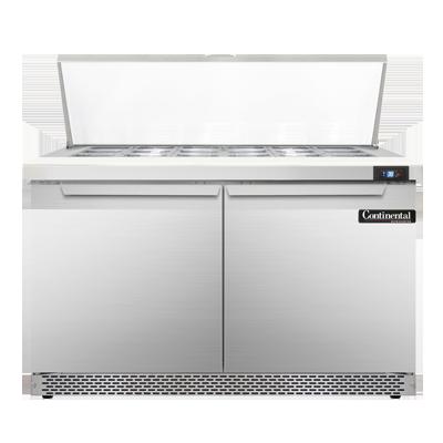 Continental Refrigerator SW48N18M-FB refrigerated counter, mega top sandwich / salad unit