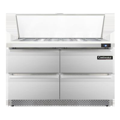 Continental Refrigerator SW48-18M-FB-D refrigerated counter, mega top sandwich / salad unit