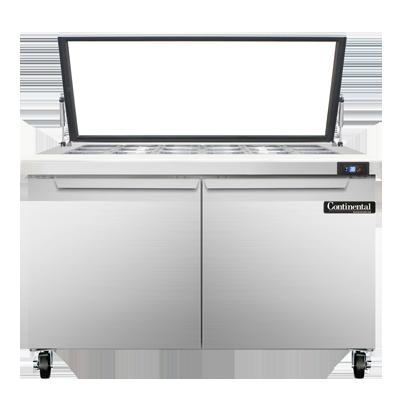 Continental Refrigerator SW48-18M-HGL refrigerated counter, mega top sandwich / salad unit