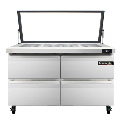 Continental Refrigerator SW48-18M-HGL-D refrigerated counter, mega top sandwich / salad unit