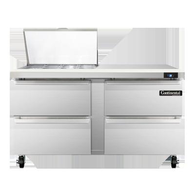 Continental Refrigerator SW60N12M-D refrigerated counter, mega top sandwich / salad unit