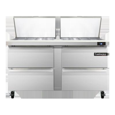 Continental Refrigerator SW60N24M-D refrigerated counter, mega top sandwich / salad unit