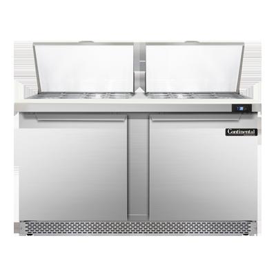 Continental Refrigerator SW60N24M-FB refrigerated counter, mega top sandwich / salad unit