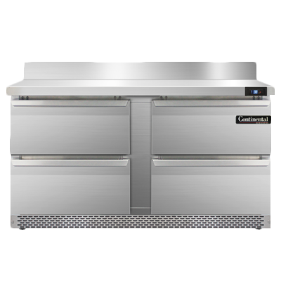 Continental Refrigerator SW60NBS-FB-D refrigerated counter, work top