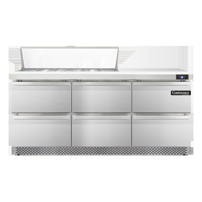 Continental Refrigerator SW72N12-FB-D refrigerated counter, sandwich / salad unit