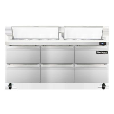 Continental Refrigerator SW72-18C-D refrigerated counter, sandwich / salad unit