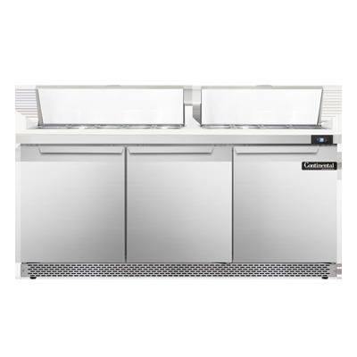 Continental Refrigerator SW72-18C-FB refrigerated counter, sandwich / salad unit