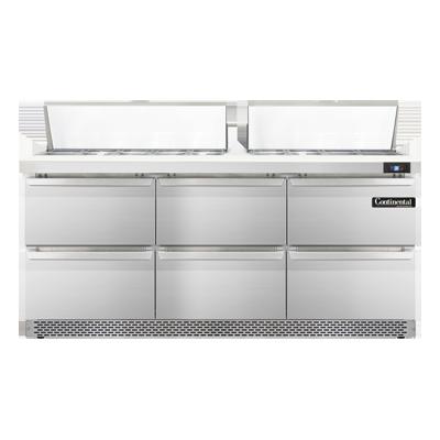 Continental Refrigerator SW72-18C-FB-D refrigerated counter, sandwich / salad unit