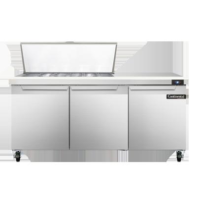 Continental Refrigerator SW72N18M refrigerated counter, mega top sandwich / salad unit