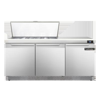 Continental Refrigerator SW72N18M-FB refrigerated counter, mega top sandwich / salad unit